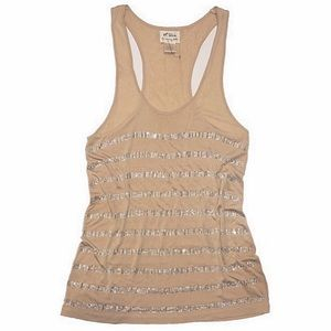 TORN By Ronny Kobo Rhinestone Bling Tank Top